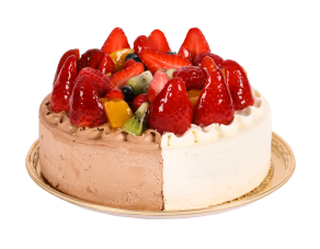 Fresh Cream and Chocolate Cream Special Mixed Fruits Cake