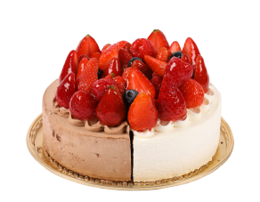 Fresh Cream and Chocolate Cream Special Strawberry Cake