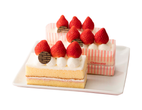 Three Fraise Cream Cake